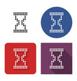 dotted icon hourglass in four variants vector image