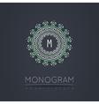 Elegant linear abstract monogram logo design vector image