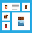 flat icon bitter set of chocolate bar bitter vector image vector image