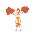funny cartoon clown in a medieval costume and vector image vector image