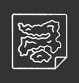 game map chalk icon virtual video computer vector image vector image