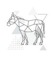 geometric donkey side view vector image