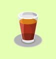 glass of tea drink vector image