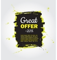 Grunge splash sale banner Black friday vector image