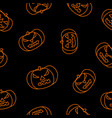 halloween black background with orange angry vector image vector image