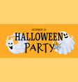 halloween party banner cute scary ghost and black vector image