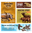 hunting club open season sketch posters vector image vector image