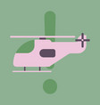 icon in flat design helicopter vector image