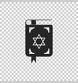 jewish torah book icon on transparent background vector image vector image