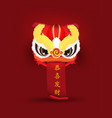 lion dance chinese new year 2019 wealthy zodiac vector image