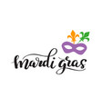 mardi gras lettering phrase holiday banner vector image vector image