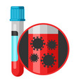 medical test tube with blood vector image