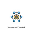 neural networks concept 2 colored line icon vector image
