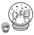 numbers game for children snowball with snowman vector image vector image