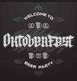 oktoberfest bavarian beer festival vector image