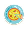 pizza icon for a italian restaurant pzzeria vector image