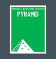 pyramid giza egypt monument landmark brochure vector image vector image