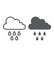 rain line and glyph icon weather and climate vector image vector image