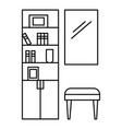 read room icon outline style vector image vector image