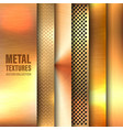 realistic brushed metal textures set polished vector image vector image
