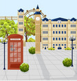 red phone booth in london architecture vector image vector image