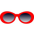 red sunglasses vector image vector image