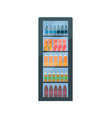 refrigerator soda and fizzy drinks isolated vector image vector image
