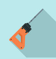 rock drill icon flat style vector image vector image