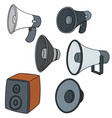 set of speaker vector image vector image