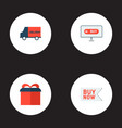 set of store icons flat style symbols with badge vector image vector image