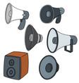 set speaker vector image vector image