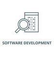 software development line icon linear vector image vector image