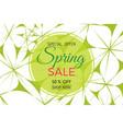 spring sale banner spring sale phrase on flowers vector image vector image