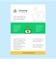 template layout for money comany profile annual vector image vector image