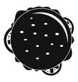 top view cheeseburger icon simple style vector image
