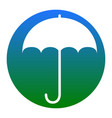 umbrella sign icon rain protection symbol flat vector image vector image