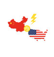 united states map and china map vector image vector image