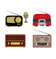 various retro radio receivers vector image