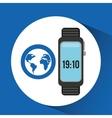 watch globe app social network vector image