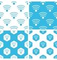 Wi-Fi patterns set vector image vector image