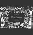 winter drinks banner template hand drawn engraved vector image vector image