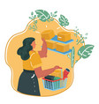 women shopping in a store vector image