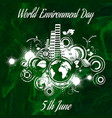 world environment day abstract background vector image vector image