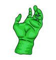 zombie hand symbol icon design beautiful isolated vector image vector image