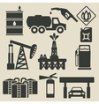 oil production industry icons set vector image