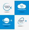 plane logo set air travel logos or flight vector image