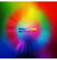 abstract color halftone circle vector image vector image