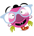 Abstract Funny Avatar - Creature with Glasses vector image vector image
