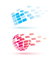 abstract globe icons business and communication