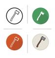 Axe icons vector image